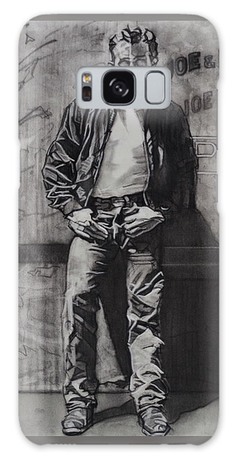 Charcoal On Paper Galaxy S8 Case featuring the drawing James Dean by Sean Connolly