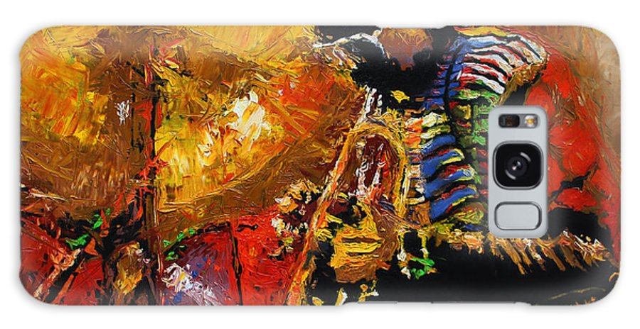 Jazz Galaxy S8 Case featuring the painting Jazz Miles Davis 3 by Yuriy Shevchuk