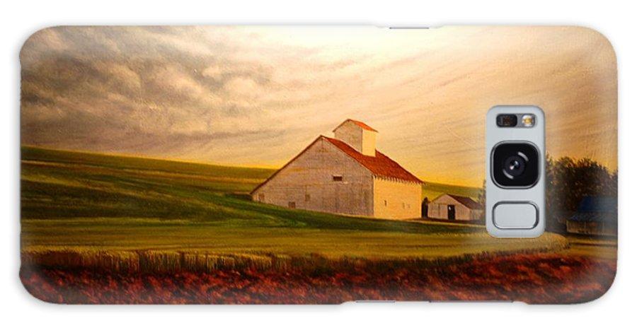 Palouse Galaxy S8 Case featuring the painting Kamiak Homestead by Leonard Heid