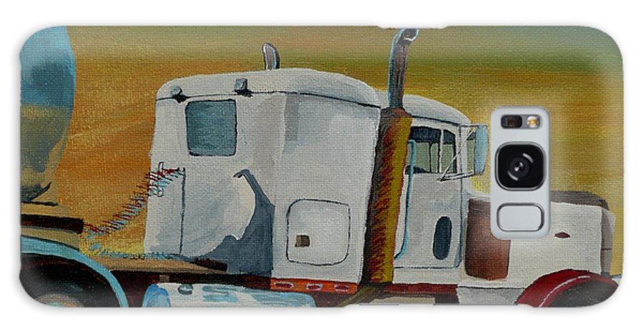 Truck Galaxy S8 Case featuring the painting King of the Road by Anthony Dunphy
