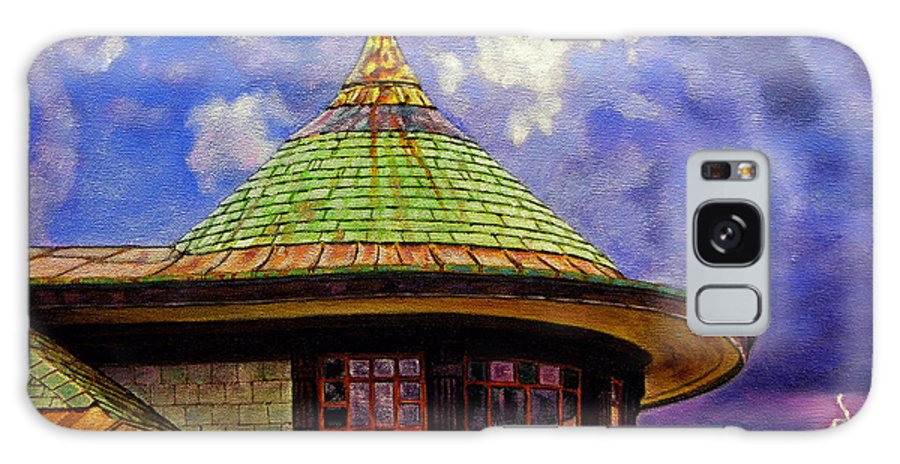 Kirkwood Galaxy S8 Case featuring the painting Kirkwood Train Station by John Lautermilch