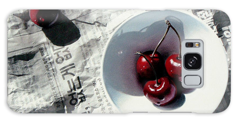 Cherries Galaxy S8 Case featuring the painting Korean Cherries by Dianna Ponting