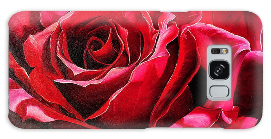 Rose Painting Galaxy S8 Case featuring the painting Labelle Rose    by Karin Dawn Kelshall- Best
