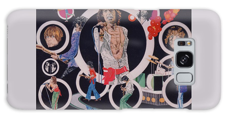 The Rolling Stones Galaxy S8 Case featuring the drawing Ladies And Gentlemen - The Rolling Stones by Sean Connolly