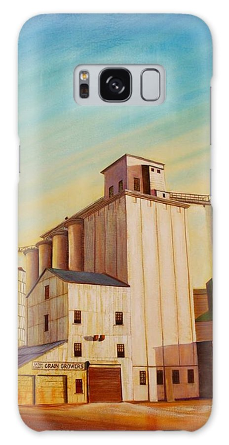 Grain Galaxy S8 Case featuring the painting Latah County Grain Growers by Leonard Heid