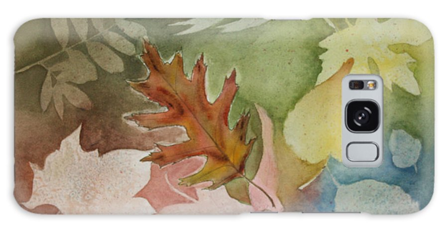 Leaves Galaxy S8 Case featuring the painting Leaves IV by Patricia Novack