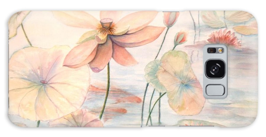 Lily Pads And Lotus Blossoms Galaxy S8 Case featuring the painting Lily Pads by Ben Kiger