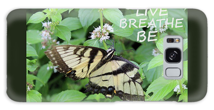 Nature Galaxy Case featuring the photograph Live Breathe Be by Holly Morris