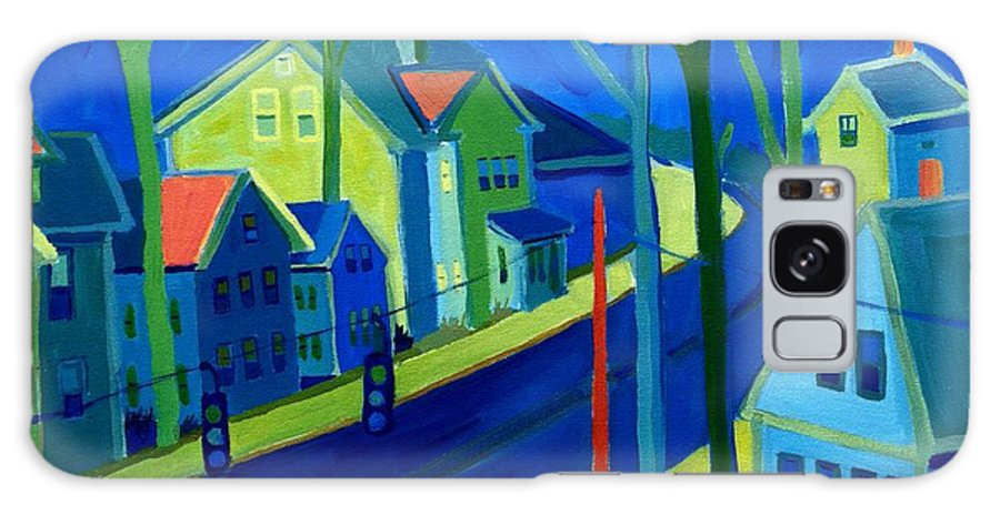 Cityscape Galaxy S8 Case featuring the painting Lowell Deluge by Debra Bretton Robinson