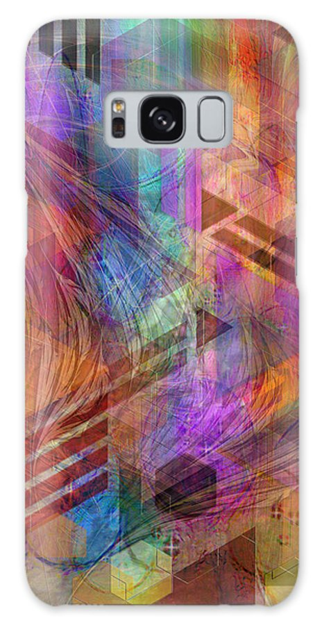 Magnetic Abstraction Galaxy S8 Case featuring the digital art Magnetic Abstraction by John Robert Beck