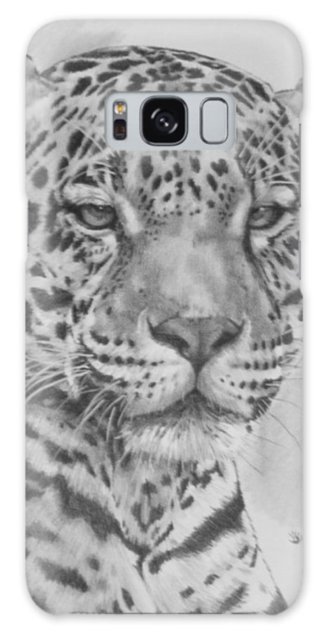 Big Cat Galaxy Case featuring the drawing Majestic by Barbara Keith