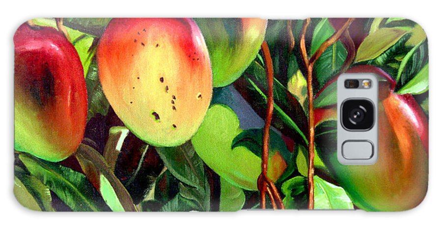 Tree Galaxy Case featuring the painting Mangos by Jose Manuel Abraham