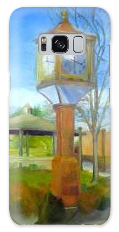 Maple Shade Galaxy S8 Case featuring the painting Maple Shade Clock by Sheila Mashaw