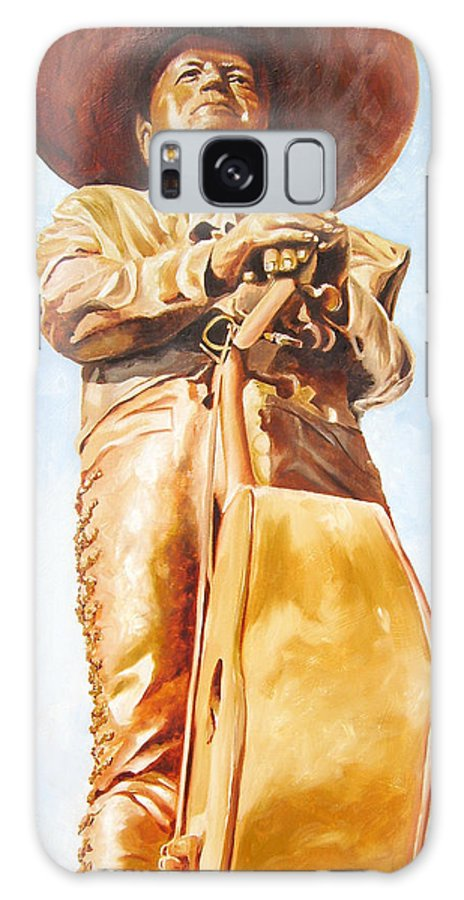 Mariachi Galaxy S8 Case featuring the painting Mariachi by Laura Pierre-Louis