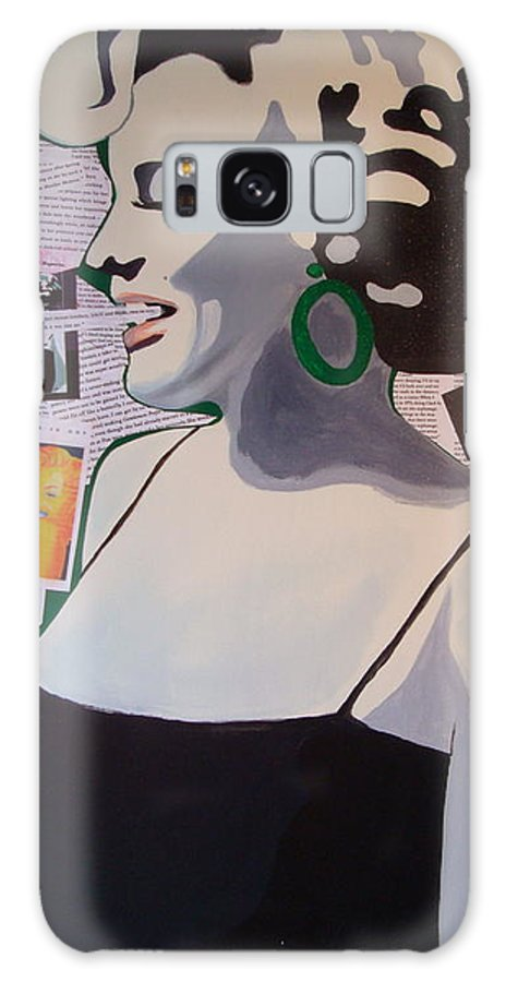 Marilyn Monroe Galaxy S8 Case featuring the drawing Marilyn by Holly Picano