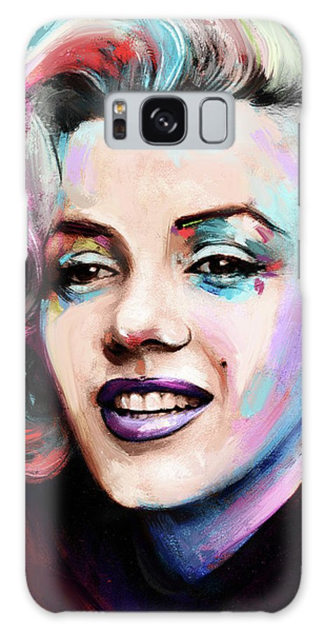 Marilyn Galaxy Case featuring the painting Marilyn Monroe portrait by Stars on Art