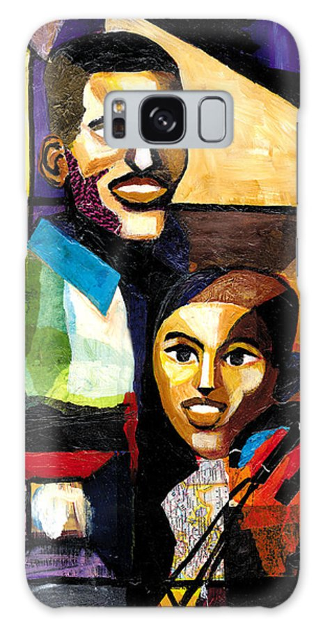 Everett Spruill Galaxy S8 Case featuring the painting Me and Dad by Everett Spruill
