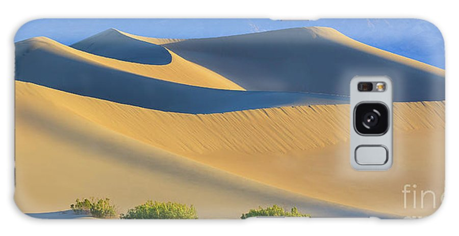 Bush Galaxy Case featuring the photograph Mesquite Flat Sand Dunes In Death Valley National Park by Henk Meijer Photography