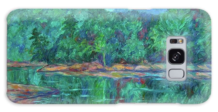 Landscape Galaxy S8 Case featuring the painting Misty Morning at Carvins Cove by Kendall Kessler