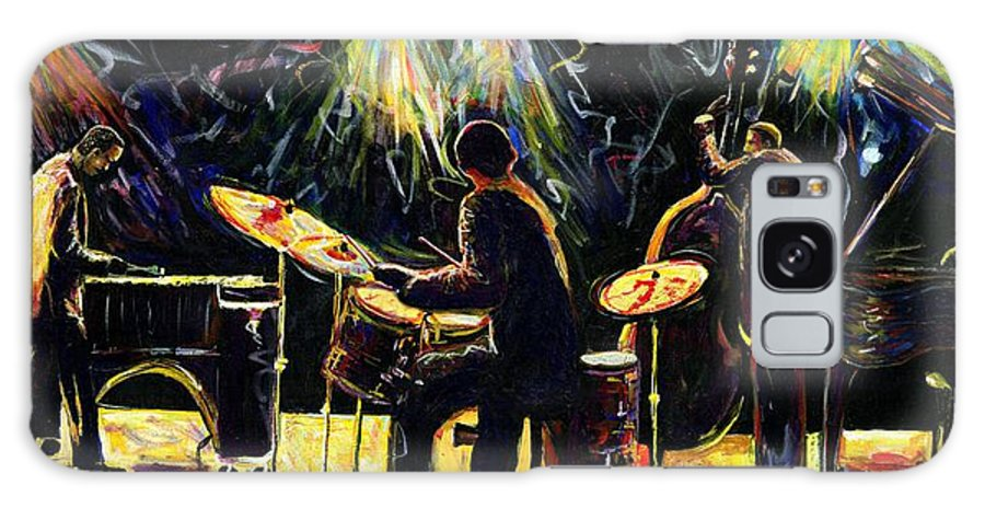 Everett Spruill Galaxy S8 Case featuring the painting Modern Jazz Quartet take2 by Everett Spruill