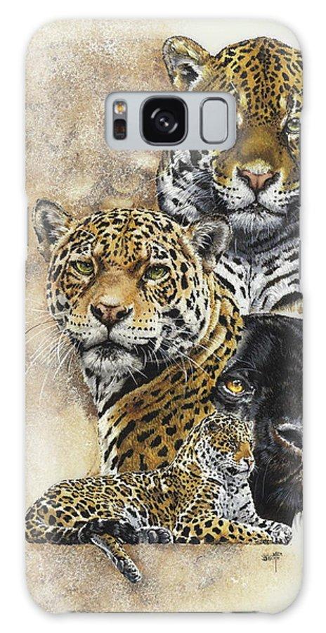 Jaguar Galaxy Case featuring the mixed media Moxie by Barbara Keith