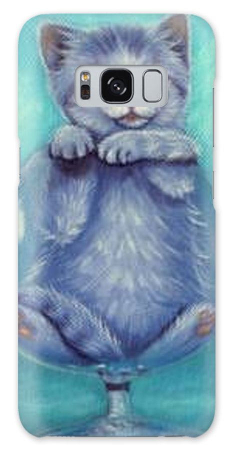Whimsy Galaxy Case featuring the painting My Cup Runneth Over by L Risor
