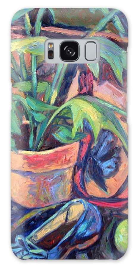 Plant Galaxy S8 Case featuring the painting My Old Shoe by Kendall Kessler