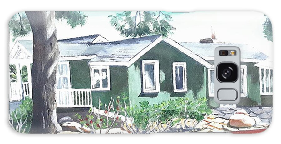 Landscape Galaxy Case featuring the painting Ocean Front House by Andrew Johnson