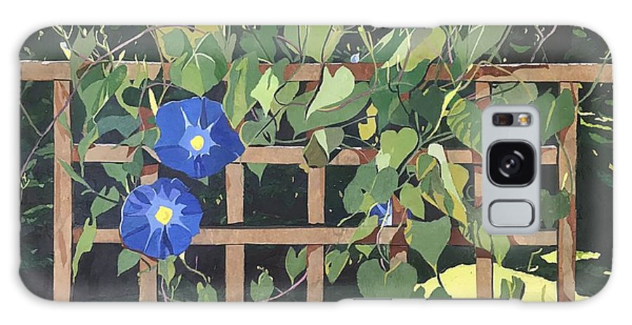 Floral Galaxy Case featuring the mixed media Oh Morning Glories by Leah Tomaino