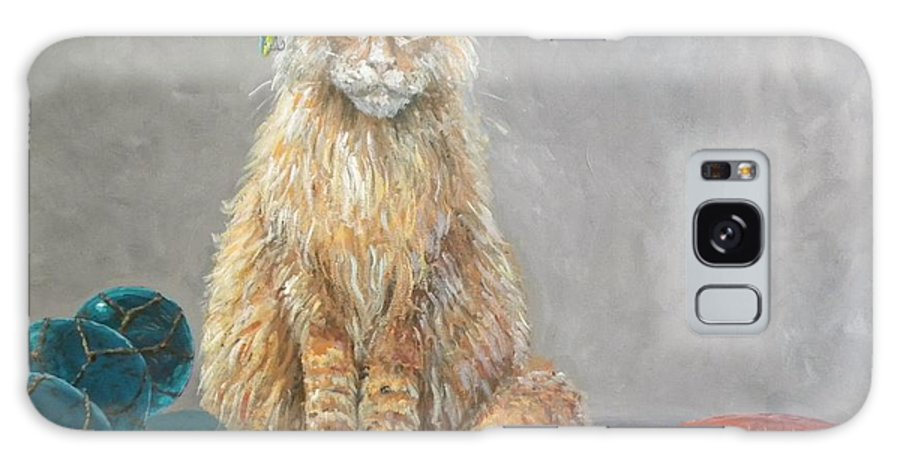 Cat Galaxy Case featuring the painting 'old Salt' The Fisher Cat by Paul Emig