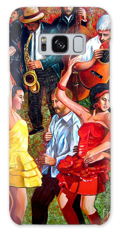 Cuban Art Galaxy Case featuring the painting Party times by Jose Manuel Abraham