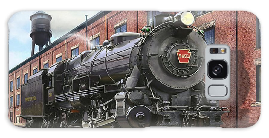 Trains Galaxy Case featuring the painting Pennsylvania Railroad K4 Pacific by Mark Karvon