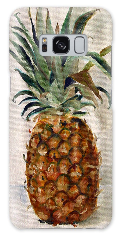 Still-life Galaxy Case featuring the painting Pineapple by Sarah Lynch