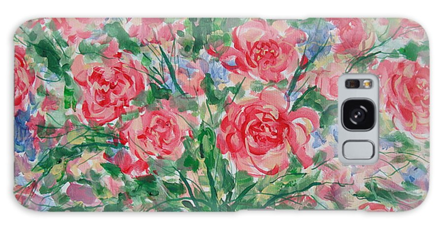 Flowers Galaxy Case featuring the painting Pink Beauty. by Leonard Holland