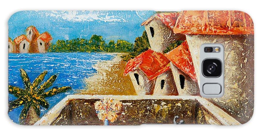 Landscape Galaxy S8 Case featuring the painting Playa Gorda by Oscar Ortiz