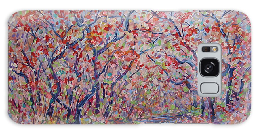 Landscape Galaxy Case featuring the painting Poetic Forest. by Leonard Holland