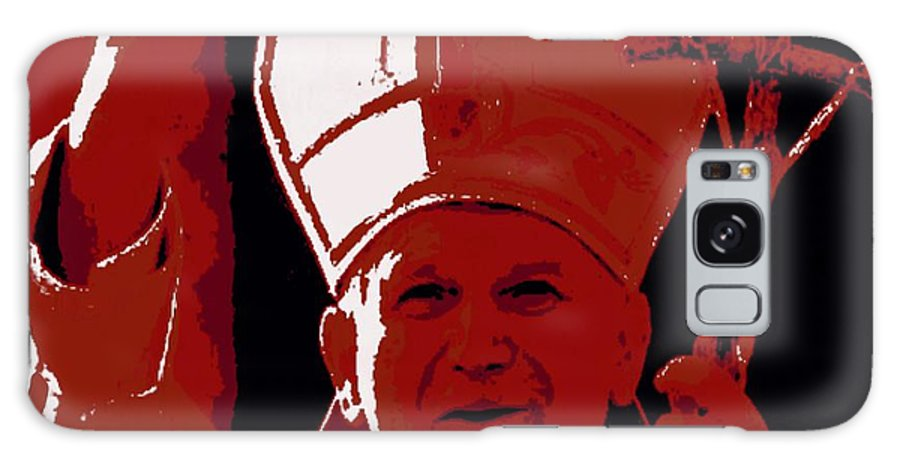 Pope Galaxy Case featuring the painting Pope John Paul II Blessing by Jack Bunds