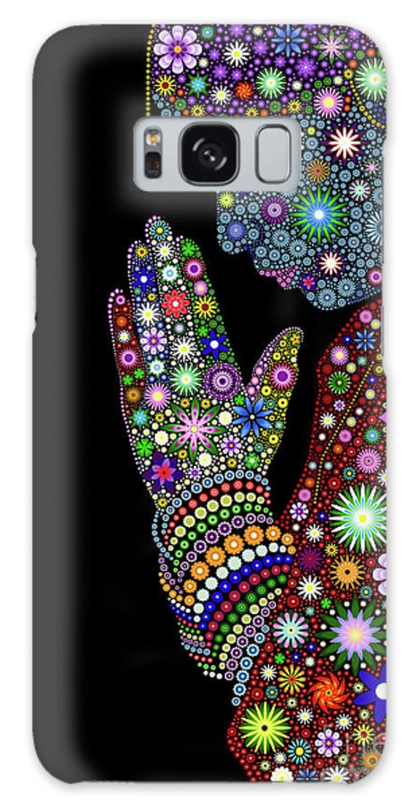 Praying For Goodness Galaxy S8 Case featuring the digital art Praying For Goodness by Tim Gainey
