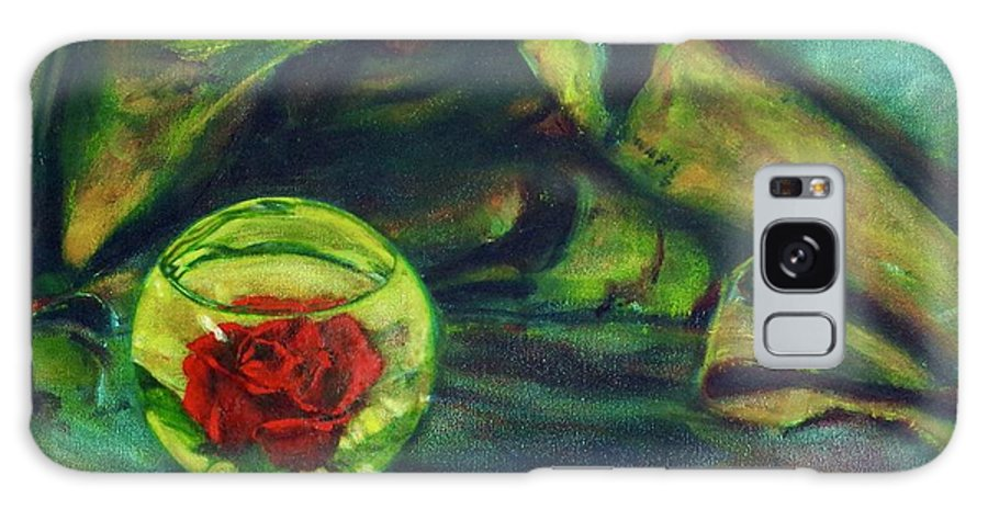 Oil Painting On Canvas Galaxy S8 Case featuring the painting Preserved Rose . . Draped Canvas by Sean Connolly