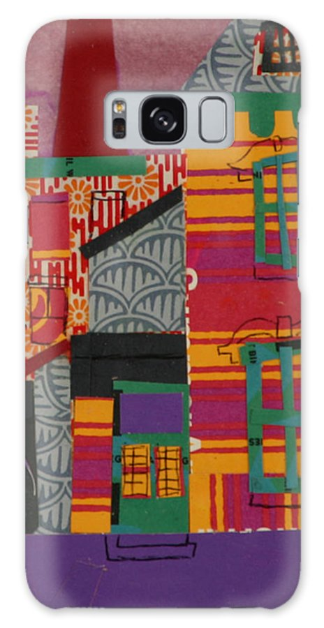 Lowell Galaxy S8 Case featuring the mixed media Revolving Museum by Debra Bretton Robinson