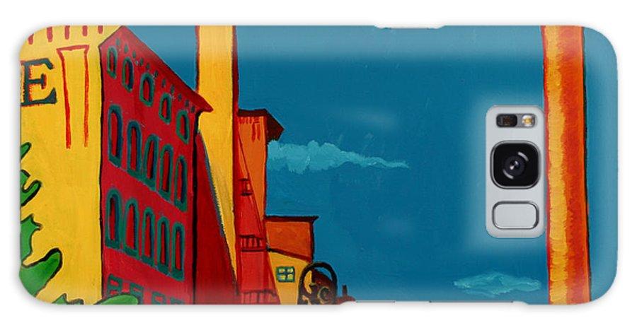 Landscape Galaxy Case featuring the painting Riverwalk by Debra Bretton Robinson