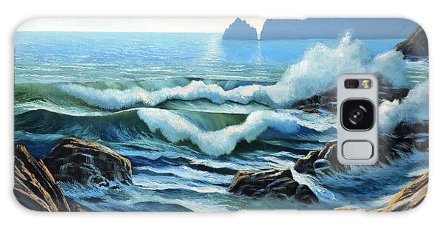 Rolling Breakers Galaxy S8 Case featuring the painting Rolling Breakers by Frank Wilson