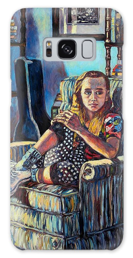 Figure Galaxy S8 Case featuring the painting Samantha by Kendall Kessler