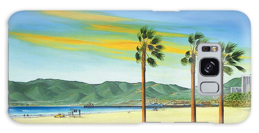 Santa Monica Galaxy S8 Case featuring the painting Santa Monica by Jerome Stumphauzer