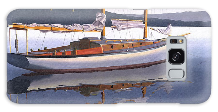 Schooner Galaxy S8 Case featuring the painting Schooner at dusk by Gary Giacomelli
