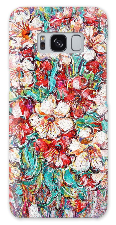 Flowers Galaxy S8 Case featuring the painting Shakespeare Scents by Natalie Holland