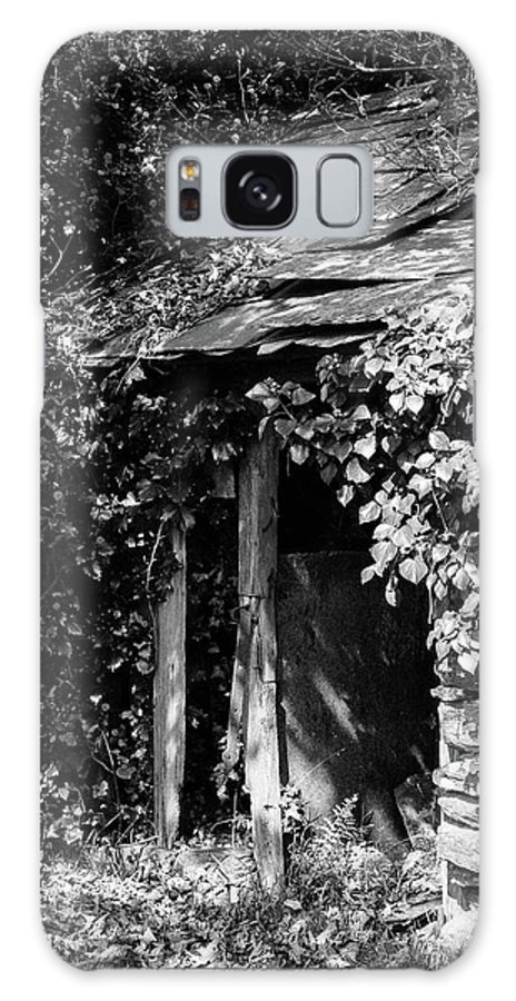 Black And White Galaxy Case featuring the photograph Shed - Retired by Bear R Humphreys