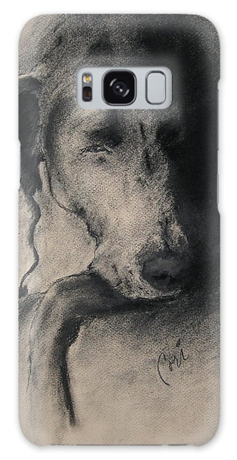Weimaraner Galaxy S8 Case featuring the drawing Silhouette by Cori Solomon