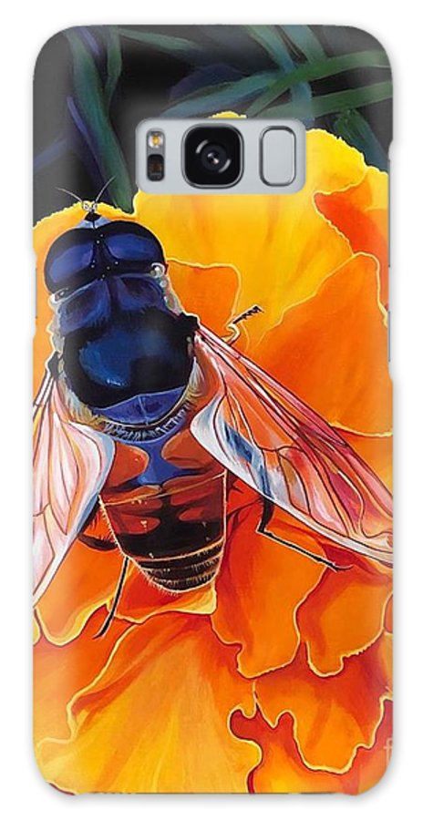 Acrylic On Linen Galaxy Case featuring the painting Simple Things by Hunter Jay