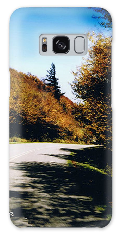 High In The Great Smoky Mtn. As You Round A Curve Stands This Noble Spruce. Galaxy S8 Case featuring the photograph Single Spruce by Seth Weaver